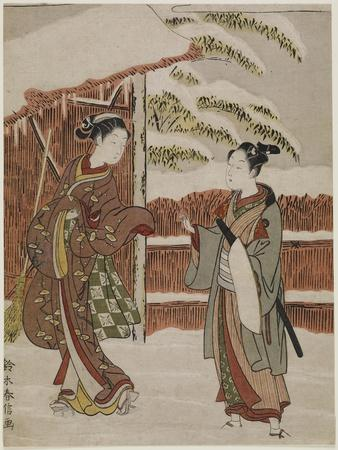 Mitate of a Scene from the Kabuki Play Women's Version of Ptted Trees, C. 1768