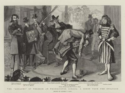 The Adelphi of Terence at Westminster School, a Scene from the Epilogue