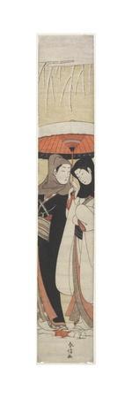 Lovers Sharing an Umbrella, C. 1770