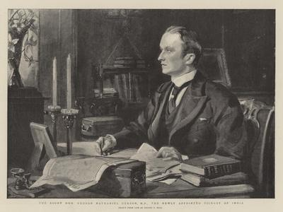 The Right Honourable George Nathaniel Curzon, Mp, the Newly Appointed Viceroy of India