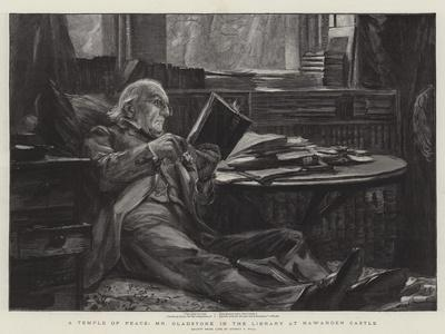 A Temple of Peace, Mr Gladstone in the Library at Hawarden Castle