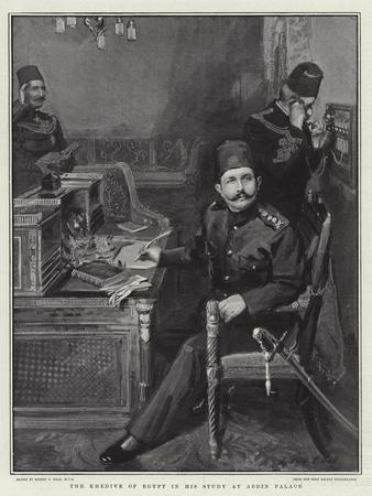 The Khedive of Egypt in His Study at Abdin Palace