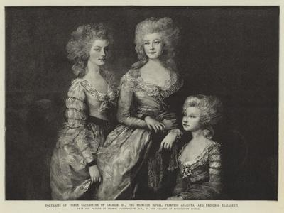 Portraits of Three Daughters of George Iii