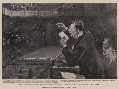 Mr Chamberlain Introducing the Commonwealth of Australia Bill