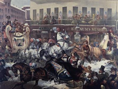 Sleighing in New York 1855