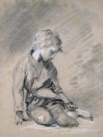 Beggar Boy, About 1780 (Black Chalk and Stump, Heightened with White, on Pale Buff Paper)
