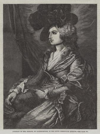 Portrait of Mrs Siddons, in the South Kensington Museum