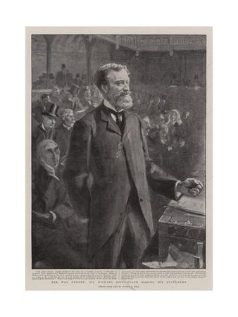 The War Budget, Sir Michael Hicks-Beach Making His Statement