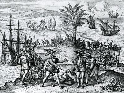 Francisco De Bobadilla Arriving as Governor and Arresting Christopher Columbus (1451-1506) in Hispa
