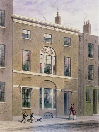 Plumbers Hall in Great Bush Lane, Cannon Street, 1851