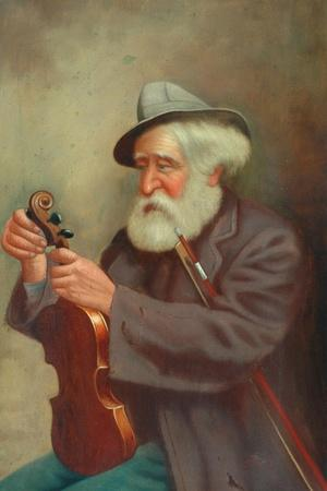 Old Man with a Violin