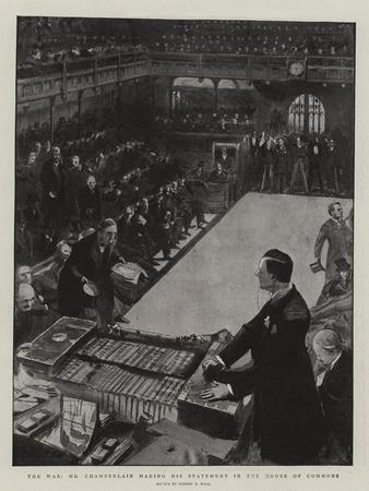 The War, Mr Chamberlain Making His Statement in the House of Commons