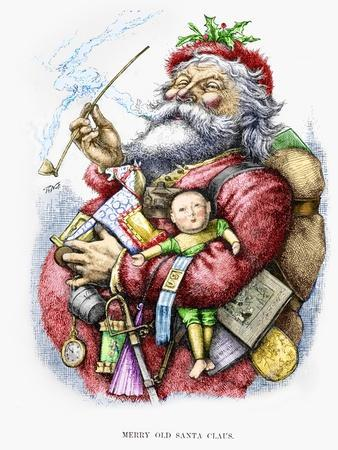 Merry Old Santa Claus, Engraved by the Artist, 1889