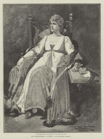Mrs Bernard-Beere in La Tosca, at the Garrick Theatre
