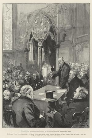 Unveiling the Lowell Memorial Window in the Chapter House of Westminster Abbey