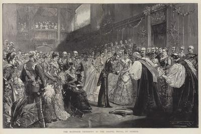The Marriage Ceremony in the Chapel Royal, St James'S