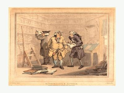 Bookseller and Author, 1784, Hand-Colored Etching and Aquatint, Rosenwald Collection