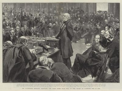 Mr Gladstone Bringing Forward the Irish Home Rule Bill in the House of Commons, 13 February 1893