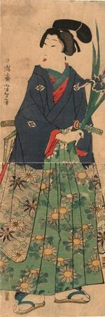 Kakitsubata O Matsu Wakashu Young Dandy Carrying Irises. Taiso