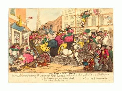Miseries of London, Published 1807, Hand-Colored Etching, Rosenwald Collection