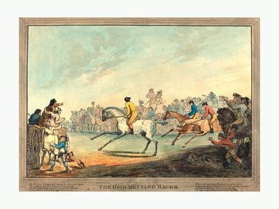 The High-Mettled Racer, 1789, Hand-Colored Etching, Rosenwald Collection