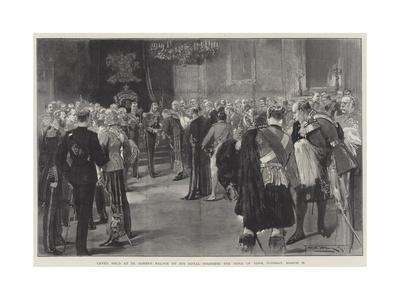 Levee Held at St James's Palace by His Royal Highness the Duke of York, Tuesday, 13 March