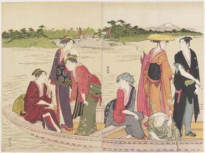 Ferryboat on the Rokugo River, 1784