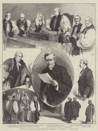 Citation of the Bishop of Lincoln before the Archbishop of Canterbury at Lambeth Palace