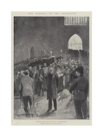 The Funeral of Mr Gladstone, the Public Viewing the Lying-In-State in Westminster Hall