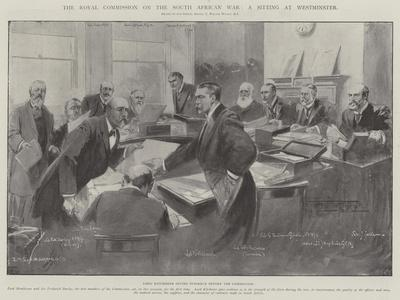 The Royal Commission on the South African War, a Sitting at Westminster