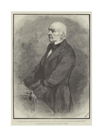 Mr Gladstone Speaking of Mr Bright in the House of Commons