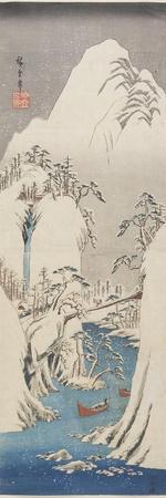 Kiso Gorge in Snow, C. 1840-1842