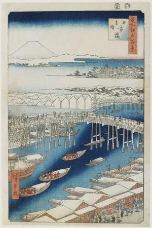Clear Weather after Snow, Nihonbashi Bridge, May 1856