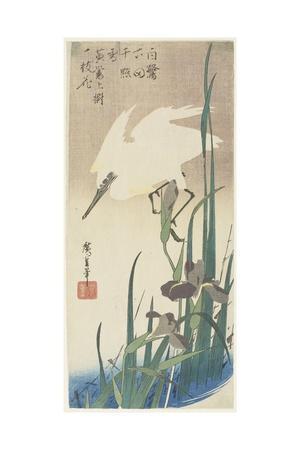 Irises and Heron, 1832-1834