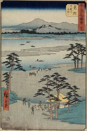 No.29 Ferry on the Tenryu River, Mitsuke, July 1855
