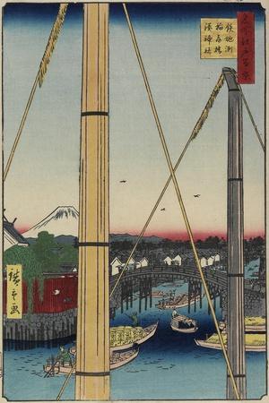 Inari Bridge and Minato Shrine, Teppozu, March 1857