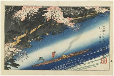 Cherry Blossoms at Arashiyama, C. 1834