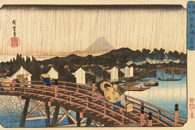 Shower at Nihonbashi Bridge, 1832-1834