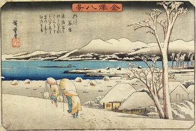 Evening Snow at Uchikawa, C. 1835-1836