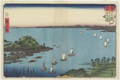 Delta of Abe River at Yaizu, July 1858