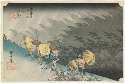 Shono--Driving Rain, C.1833