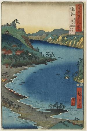 The Small Inlet of Hikisa at Horie Kanzanji, the Lake Hamana in Totoumi Province, August 1853