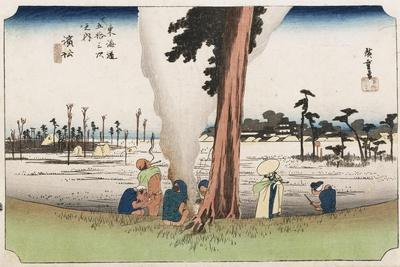 Winter View, Hamamatsu, from the Series 'The Fifty-Three Stations of the Tokaido', C.1834