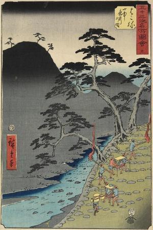 No.11 River in Hakone Mountain at Night, July 1855