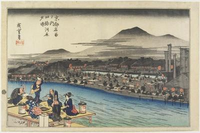 Cooling of the Evening at Shijo Riverbank, C. 1834