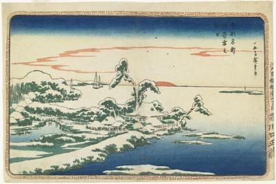 New Year's Day Sunrise at Susaki in Snow, C. 1831