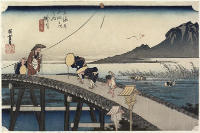 Distant View of Akiba Mountain, Kakegawa, C. 1833