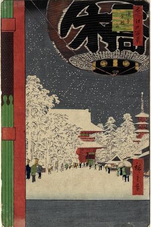 Kinryu Zan Temple, Asakusa, July 1856