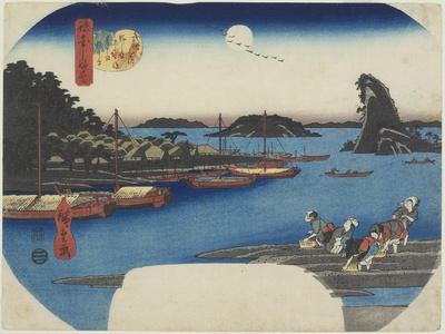 Willow Tree by the Nihon-Zutsumi Bank, Shin-Yoshiwara, November 1853