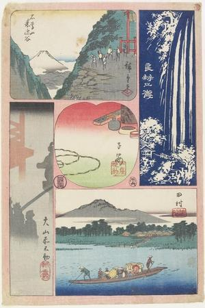 Ryoben-Zan Fall, Ferry Boat at Tamura, Morning Fog at Oyama Shrine, Mountain and Valley